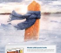 Laur dla reklamy linii Woodex