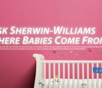 Zapytaj Sherwin Williams skąd się biorą dzieci