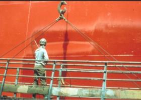Statek Happy Eagle odnowiony farbami od Jotun Polska