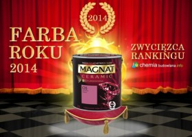 "Magnat Ceramic z tytułem ""Farba Roku 2014″"