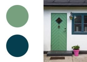 7 letnich pomysłów na malowanie drzwi