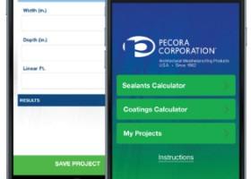 Aplikacja Pecora Corporation do szacowania ilości farby