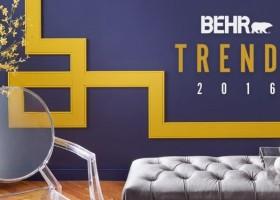 Zmysłowe kolory Behr – trendy 2016