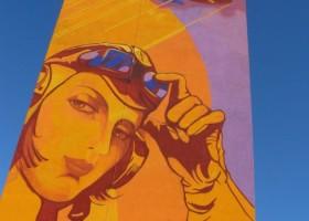 Modernistyczny mural na gdańskiej Zaspie