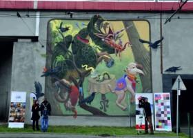 Kraków – kolejny mural na Rondzie Mogilskim