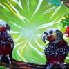 Ptaki Nowej Zelandii na pracach brytyjskiej artystki