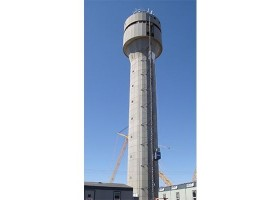 Farby Tex-Cote na drugiej najwyższej wieży kontrolnej