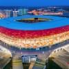 Stadion Mordowia Ariena z farbami Alcea