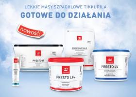 Nowa linia mas szpachlowych Tikkurila Presto