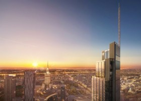 Farby Interpon na Varso Tower, najwyższym budynku UE