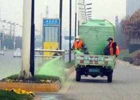 Malowanie trawy na zielono w Chengdu