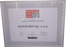 quick-mix z tytułem Budowlana Firma Roku 2013
