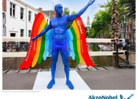 Żywa rzeźba AkzoNobel na Gay Pride 2014