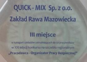 Quick-Mix – nagroda za bezpieczeczne warunki pracy