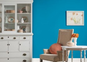 Oceaniczny błękit Kolorem Roku Glidden Paint