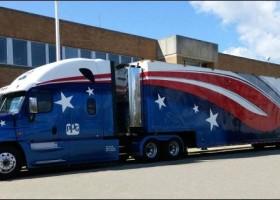 Flaga USA na ciężarówce PPG