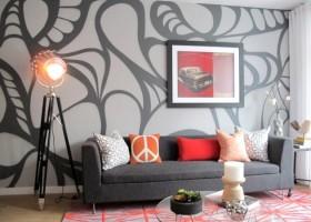 Mural w salonie