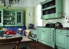 Beże i błękity – kuchnia w stylu vintage
