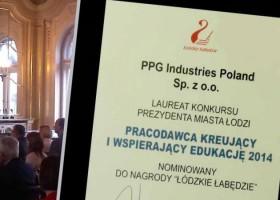 PPG z nagrodą Łódzkie Łabędzie
