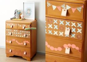 Pastelowa komoda do pokoju dziecięcego