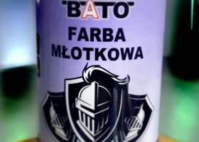"""Nowa etykieta Farby Młotkowej """"BATO"""""""