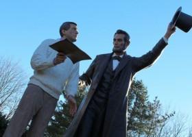 Abraham Lincoln pomalowany farbami Axalta