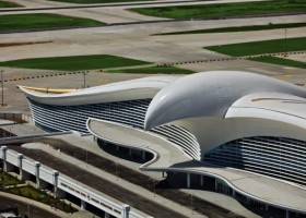 Lotnisko w Turkmenistanie z farbami Alesta SD