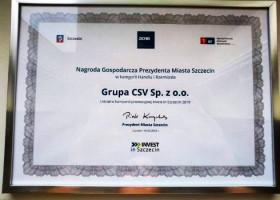 Grupa CSV z nagrodą za sukcesy w kraju i za granicą