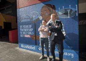 AkzoNobel i mural na rzecz walki o prawa dziewczynek