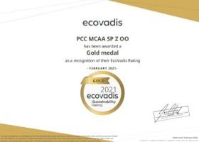 PCC MCAA ze złotym medalem EcoVadis