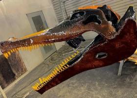 Szkielet dinozaura z farbami HMG Paints