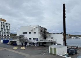 Pożar w obiekcie Jotun w Sandefjord
