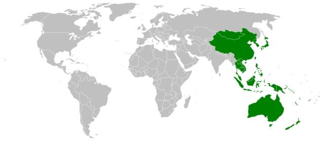 konsumpcja farb Azja i Pacyfik