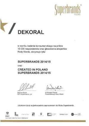 Dekoral Superbrands