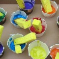 malowanie gąbką