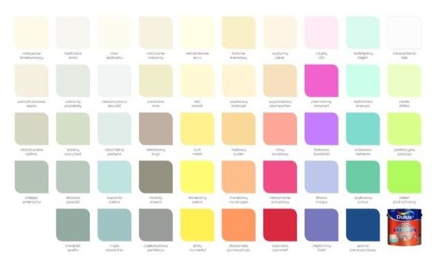 Paleta kolorystyczna Dulux EasyCare. Fot. arch. Dulux