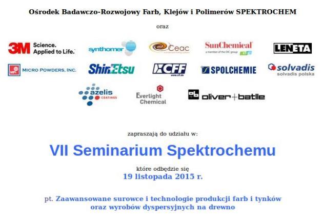 Seminarium Spektrochemu