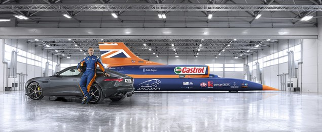 BLOODHOUND SSC, Andy Green and Jaguar FType AWD (arch. www.bloodhoundssc.com)