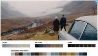 Kolory inspirowane filmem Skyfall (moviesincolor.com)