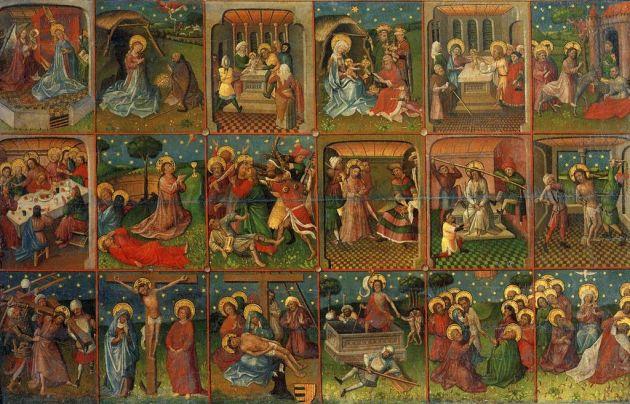 """""""Osiemnaście scen z życia Chrystusa"""", 1435, ze zbiorów Rijksmuseum. Web Gallery of Art / Wikimedia Commons"""