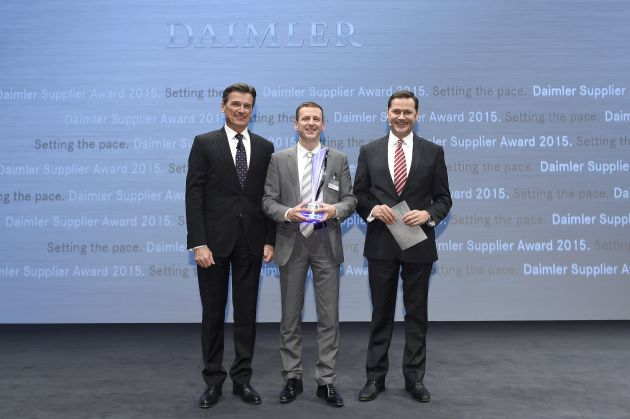 Axalta CS Daimler Supplier Award