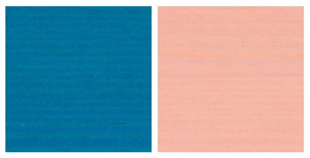 Blu turchese i Rosa pesca z linii Arborea Pastel. Fot. arch. ICA Group