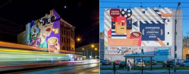 Costa Coffee murale