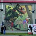 Kraków mural Rondo Mogilskie Kabe
