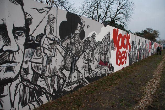 legionowo najwi kszy mural historyczny ods oni ty