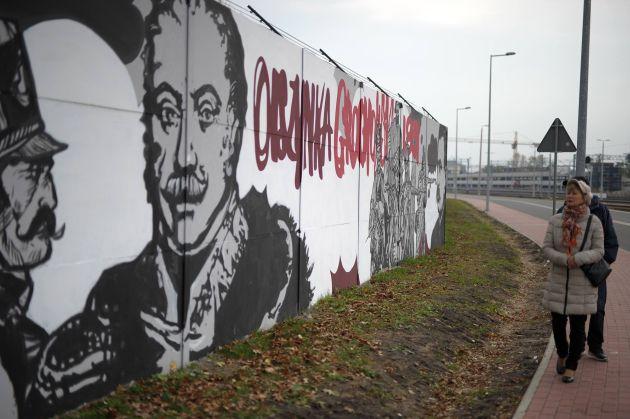 Najwi kszy mural historyczny w europie for Mural legionowo