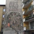 Miasto-Idea mural Kraków Open Eyes Economy Summit