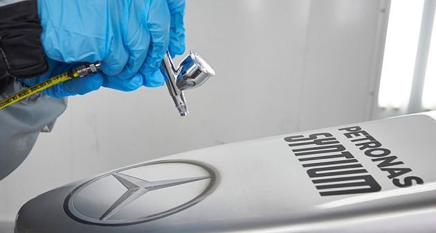 Mercedes AMG Petronas Axalta Coating Systems Spies Hecker