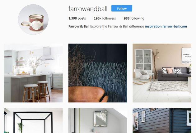 Farrow & Ball Instagram