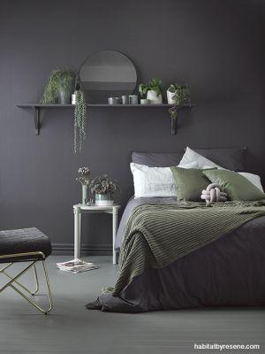 ciemne ściany sypialnia